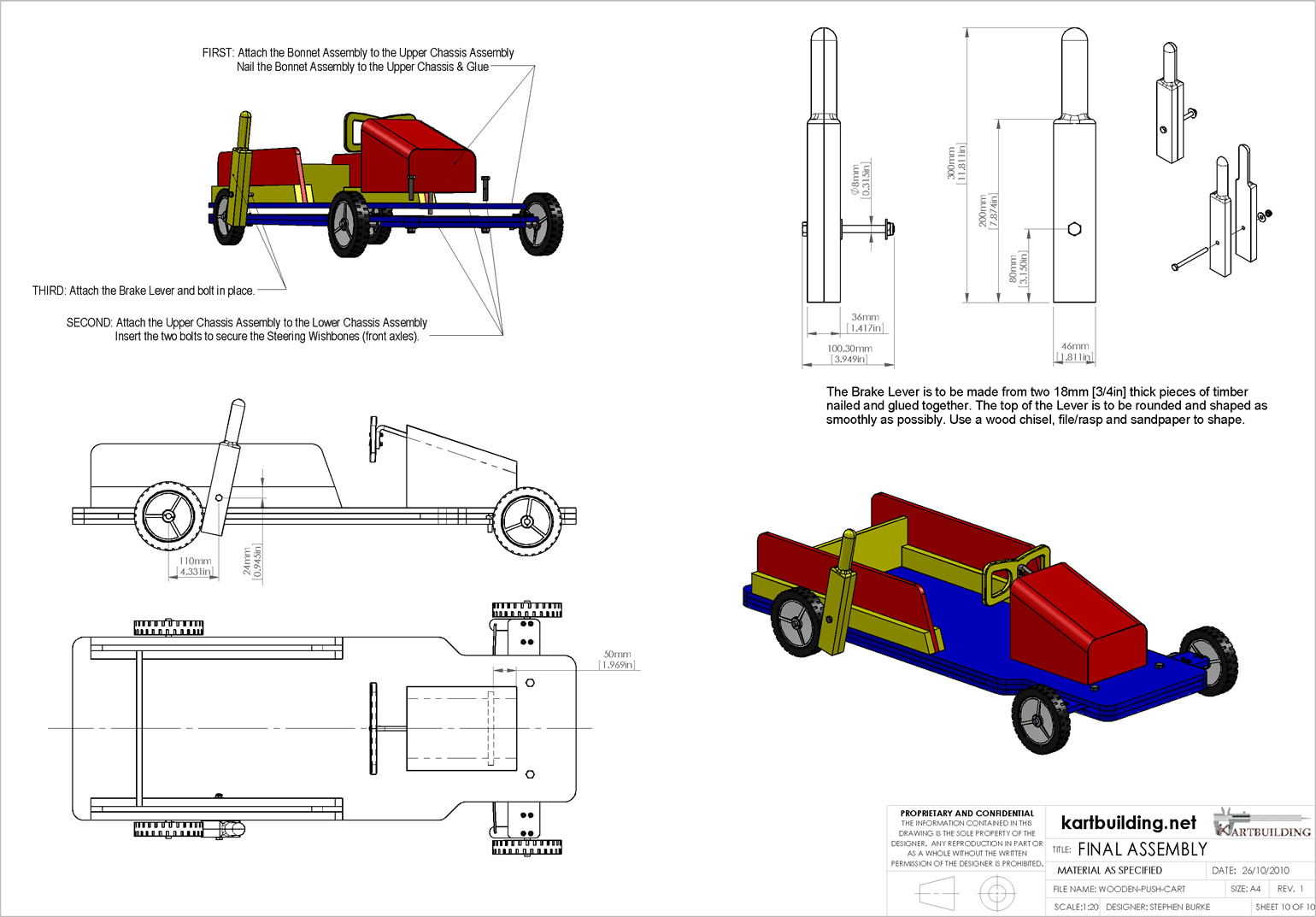 Wooden Go-Kart Plans :: How to build a wooden push cart with a ...