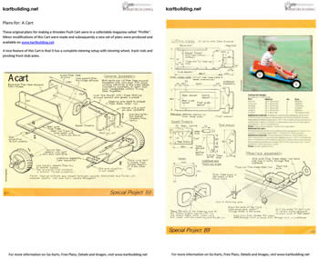 Wooden Push Cart Plans